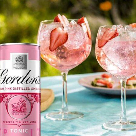 gordons premium pink destilled gin tonic