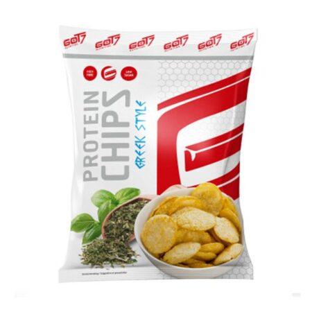 got protein chips greek style