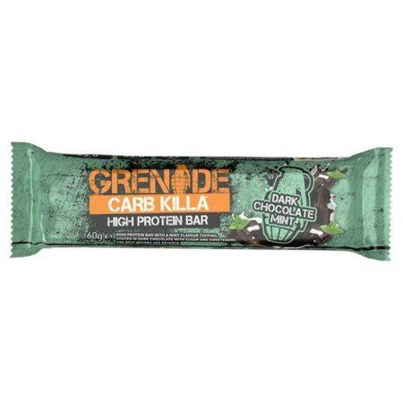 grenade dark chocolate mint bar