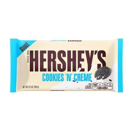 hershey cookies n creme giant bar  oz g