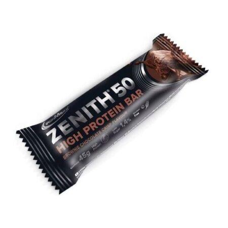 ironmaxx zenith  high protein bars brownie chocolate crisp