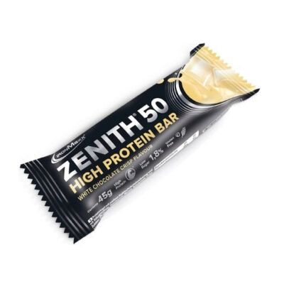 ironmaxx zenith  high protein bars white chocolate crisp