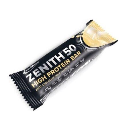ironmaxx zenith  high protein bars white chocolate crisp