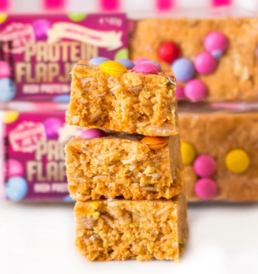 mountain joes protein flapjack with candies