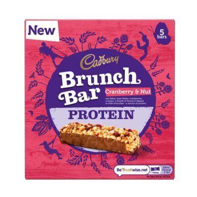 cadbury protein brunch bar 160g cranberry