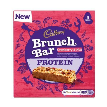 cadbury protein brunch bar 160g cranberry