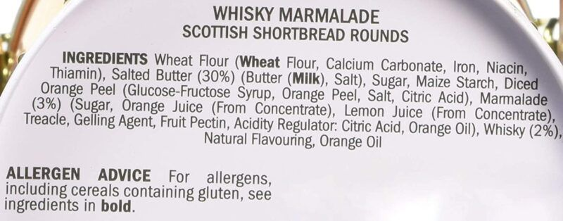 deans shortbread whisky marmelade facts