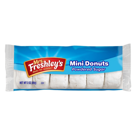 freshleys donuts powdered sugar