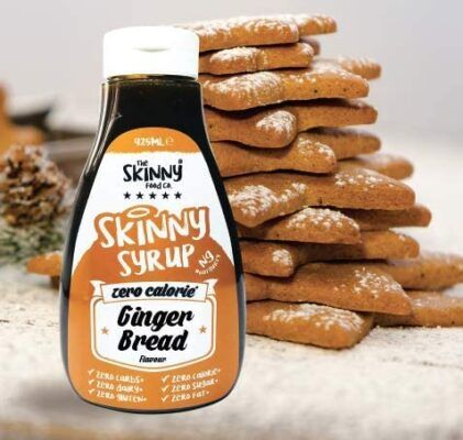 gingerbread notguilty zero calorie sugar free syrup the skinny food co 425ml 2