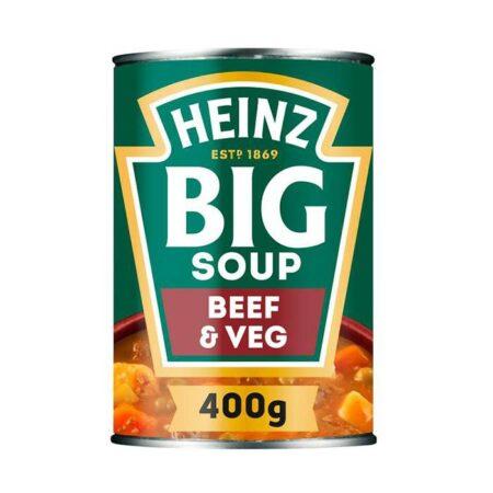 heinz big soup beef vegetable 400g