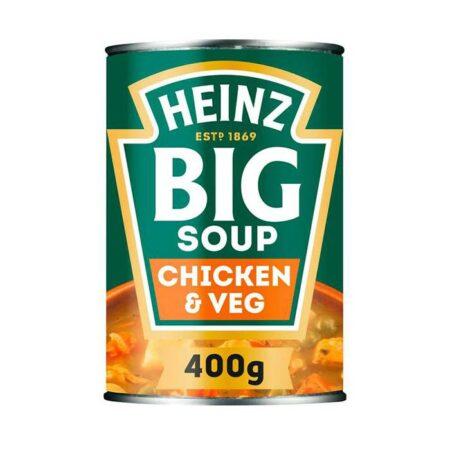 heinz big soup chicken vegetable g