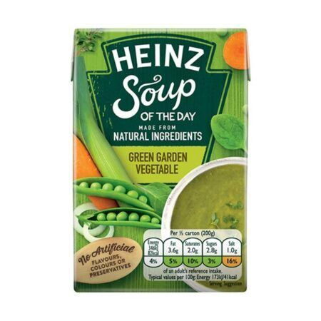 heinz soup of the day green garden vegetable g