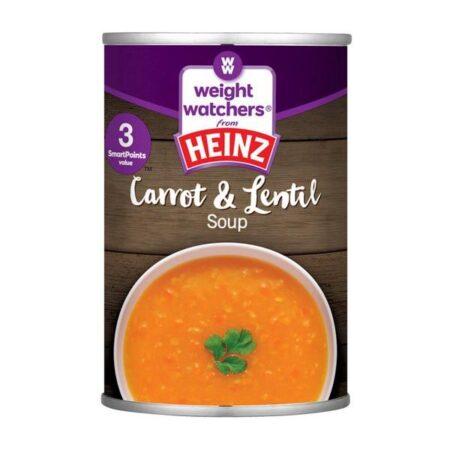 heinz ww soup carrot lentil g