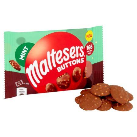 maltesers buttons mint 32g 2