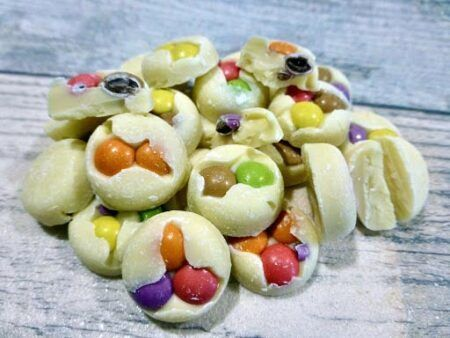 smarties buttons white chocolate g