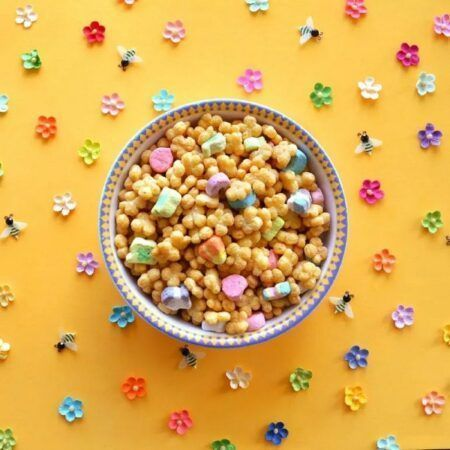 Bowl of Lucky Charms Honey Clovers