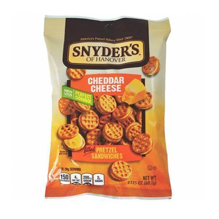 Snyders of Hanover Cheddar Cheese Pretzel Sandwiches