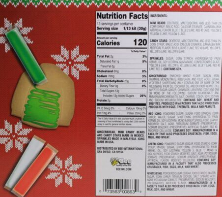 bee ugly sweater cookie kit 396g 2