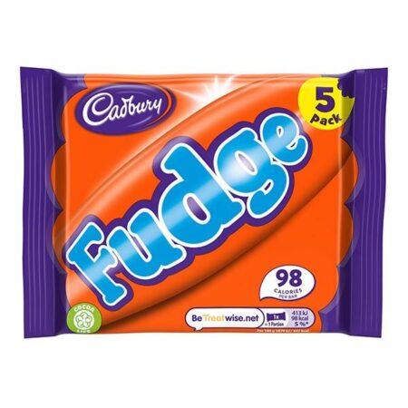 cadbury fudge bar 5 pack 110g
