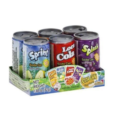 fizzy candy soda can 42g