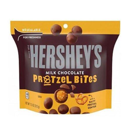 hersheys milk chocolate pretzel bites 212g