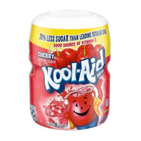 kool aid cherry drink mix tub 19oz 538g