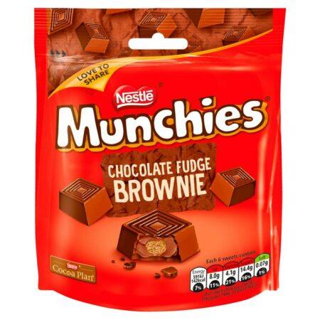 munchies chocolate fudge brownie g