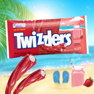 twizzlers filled twists strawberry smoothie 11oz 311g 2
