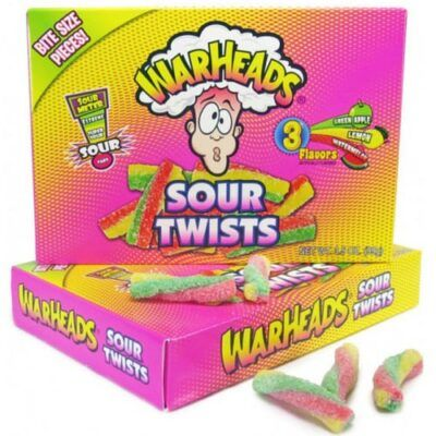 warheads sour twists bite size 99g 2