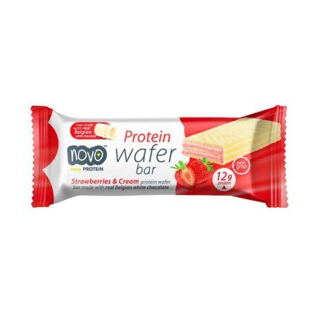 NOVO PROTEIN WAFER STRAWBERRIES   CREAM 40g