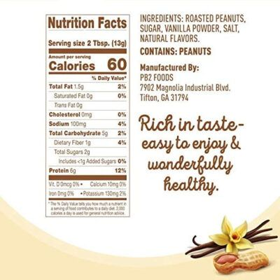 PB2 Powdered Peanut Butter with Madagascar Vanilla Facts