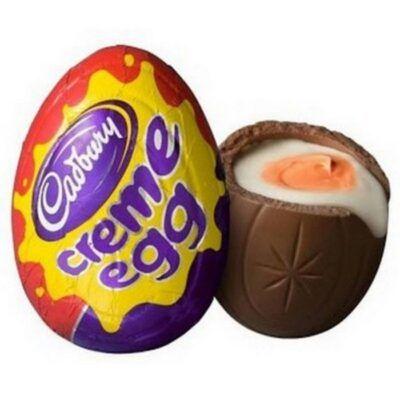 cadbury creme egg with yellow yolk