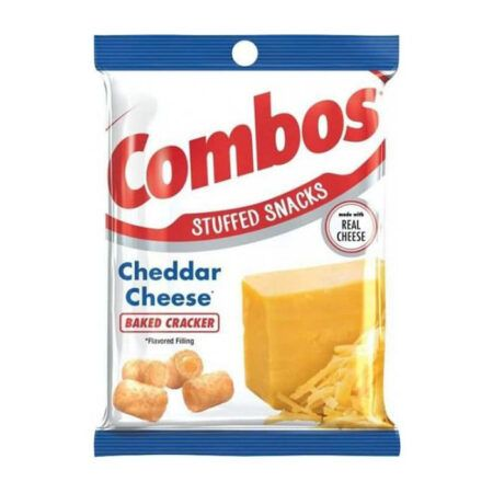 combos cheddar cheese baked cracker 178g