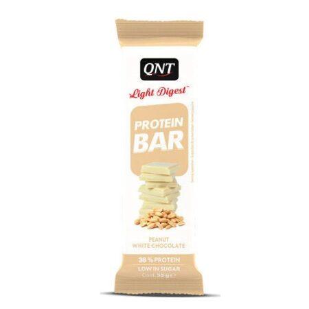qnt light digest protein bar 15 x 55 gr peanut white chocolate