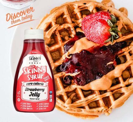 strawberry jelly zero notguilty calorie sugar free skinny syrup the skinny food co 425ml 3