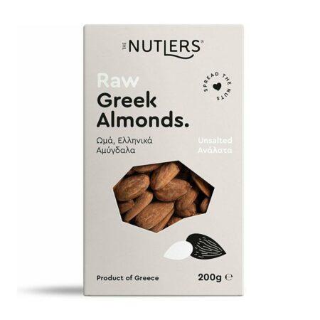 The Nutlers Raw Greek Almonds Ωμά Ελληνικά Αμύγδαλα Ανάλατα 200γρ