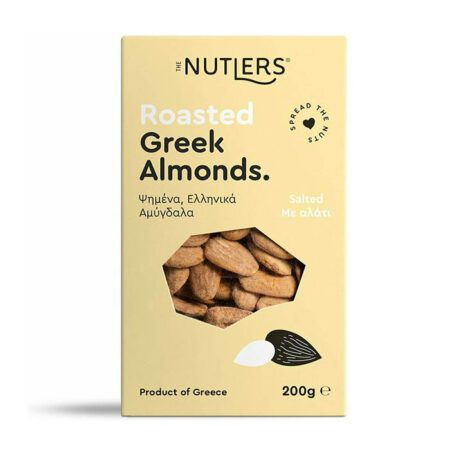 The Nutlers Roasted Greek Almonds Ψημένα Ελληνικά Αμύγδαλα Με Αλάτι γρ