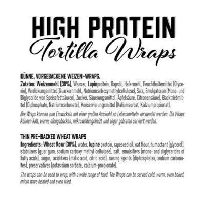 got7 protein tortilla wraps 25 cm 280 g facts 2