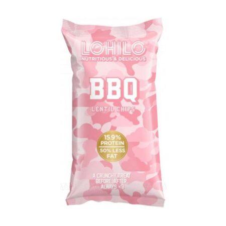 lohilo bbq lentil chips 90g