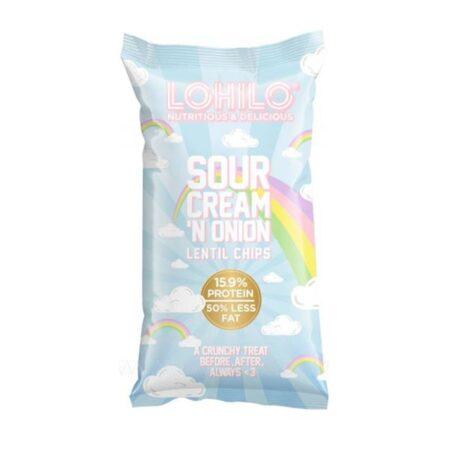 lohilo sour cream lentil chips 90g