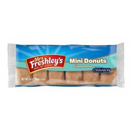mrs freshleys cinnamon mini donuts 6pk