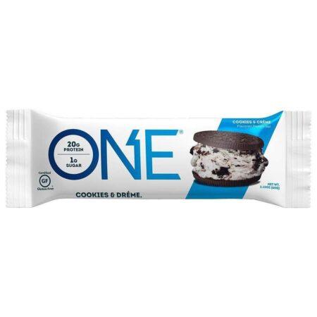 one brand one brand cookies cream one bar