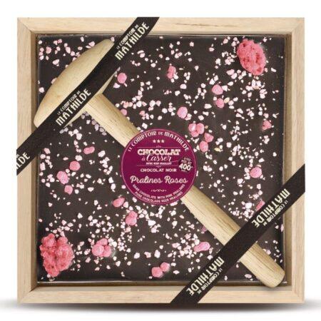 praline rosa chocolate con martillo 400gr mathilde