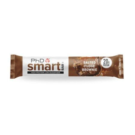 product phd poducts phd smart bar salted fudge brownie  g