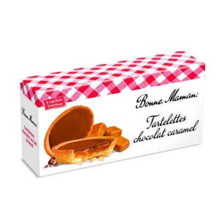 Tartelettes au chocolat au lait et caramel Bonne Maman
