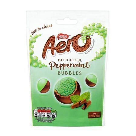nestle aero peppermint pouch 102g