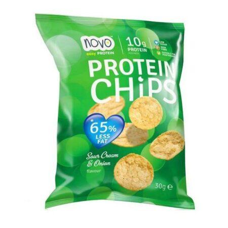 novo easy protein chips sour cream onion 30gr