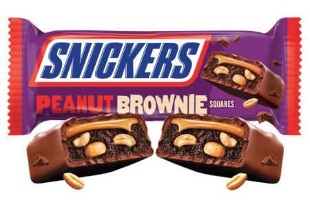 snickers peanut brownie squares 34g 2