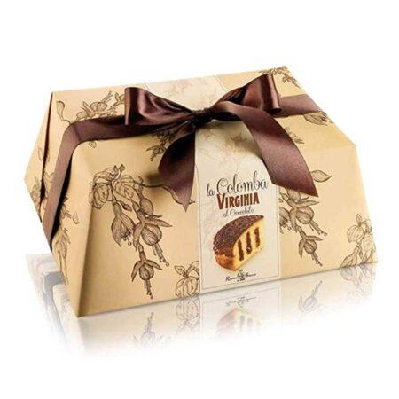 virginia colomba with chocolate