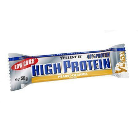 weider high protein bar peanut caramel 50gr